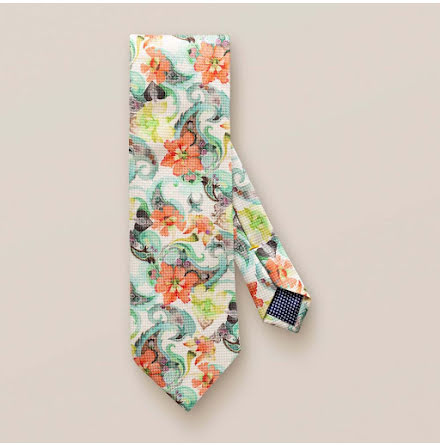 ETON Jazz hand painted floral paisley tie