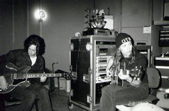 Photo: With Jeff Trott (recording TGS) 1998 - 2