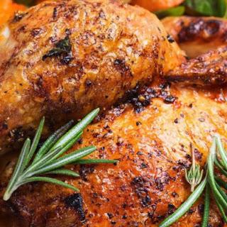 Olive Oil & Herb Rotisserie Hanukkah Chicken