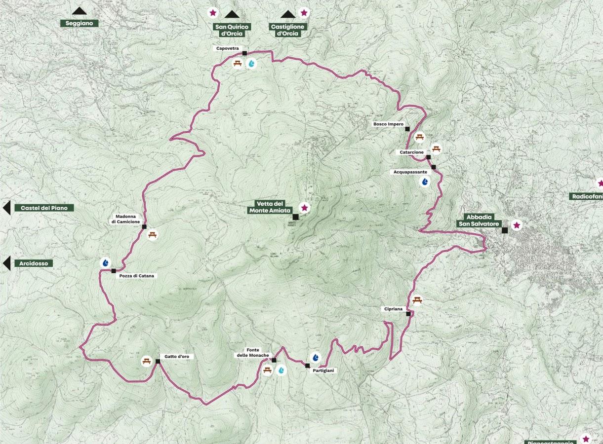 Mappa Anello Monte Amiata
