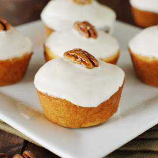 Bourbon-Glazed Sweet Potato Muffins (Printable recipe)
