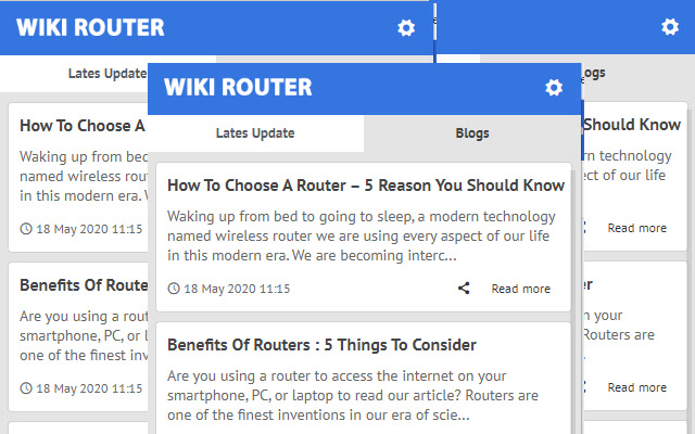 Wiki Router - Latest News Update