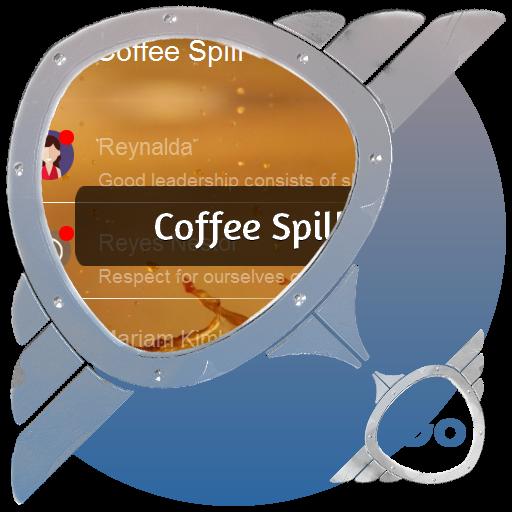 咖啡溢出 GO SMS 個人化 App LOGO-APP試玩