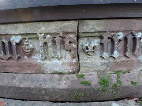 Photo: Mortar, lichen. moss