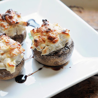 Chicken Sausage and Apple Stuffed Mushrooms