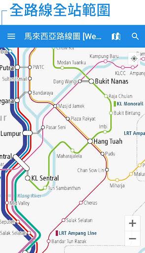 馬來西亞鐵路線圖 - 吉隆坡 婆羅洲和全馬來西亞