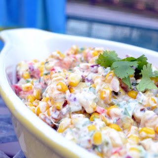 Sweet and Creamy Warm Summer Corn Salad.