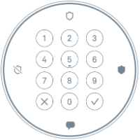 Secure guard keypad
