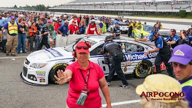 Photo: Hendrick Motorsports #88 Dale Earnhardt Jr swept both Pocono races in 2014, and here he parts pit road. https://plus.google.com/+DaleJr/posts