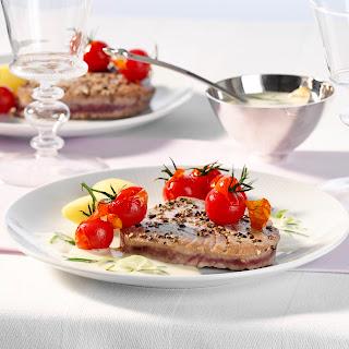 Thunfischsteak mit Limetten-Sahnecreme