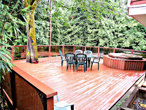 Photo: GARDEN LEVEL - THIS IS YOUR HUGE PRIVATE DECK WITH YOUR PRIVATE 6 PERSON HOT-TUB