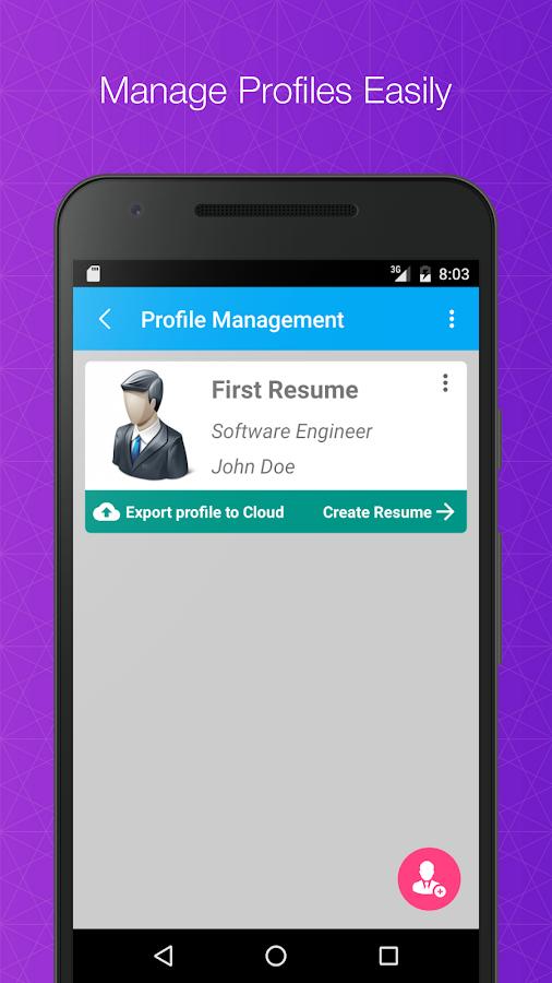 word resume screenshot