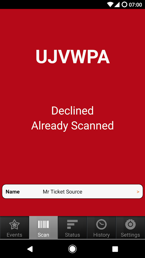 TicketSource Express- screenshot