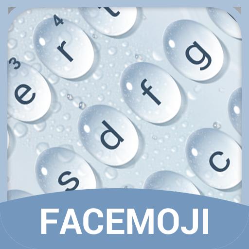 Water Drop Emoji Keyboard Theme for Facebook