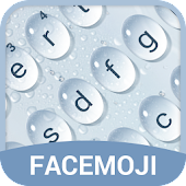 Glass Water Drop & Rainy Mood Keyboard Theme