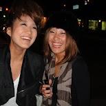 cute japanese girls at the shinsaibashi district in osaka in Osaka, Osaka, Japan