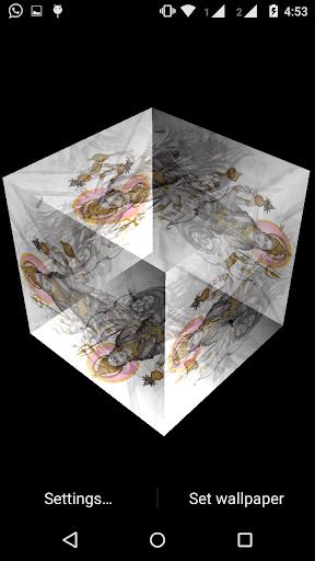 Durga Maa 3D cube Live WP