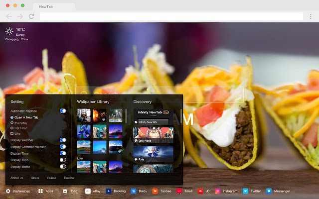 Mexican cuisine HD New Tabs Foods Themes