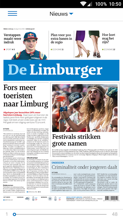 De Limburger Digitaal: screenshot