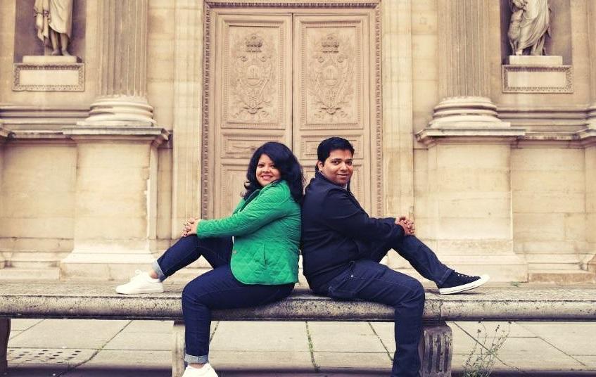 Chandrima and her husband