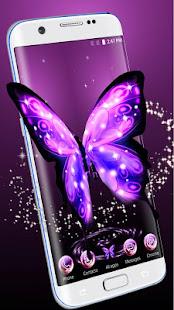 3D霓虹燈蝴蝶主題
