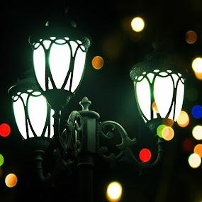 Lanterns of a Tale by Souvik Nandi - Artistic Objects Other Objects ( lantern, street light, light stand, light, boke )