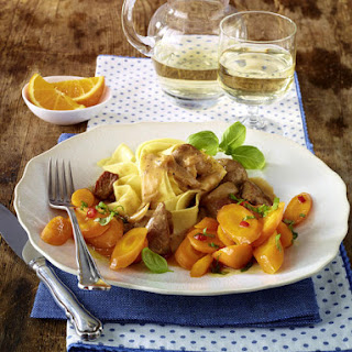 Turkey Stew with Carrots and Tagliatelle