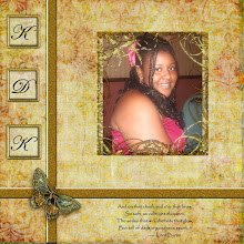 """Photo: This is my first layout done in response to an online challenge.  We were provided a kit and if I post this layout I will get a free kit! Whoo-hoo! The kit is Golden Summer Page Kit  -- Created by Lauren Bavin. Purchased from Digital Scrapbook Place.  The wording is a few lines from the poem by Lord Byron that begins """"She walks in beauty like the night..."""""""