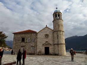 Photo: In 1452 two fishermen said they saw the Virgin Mary in the water.  People started dropping stones at the site until there was room to build a church in the middle of the strait.