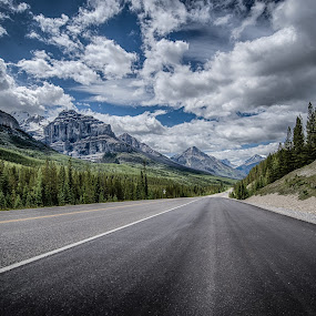 B.C. the Beautiful by GThomas Muir - Landscapes Mountains & Hills ( clouds, lake louise, highway, ice fields, jasper, banff )