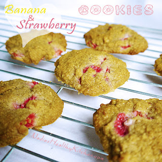 Clean Eating Banana and Strawberry Cookies.