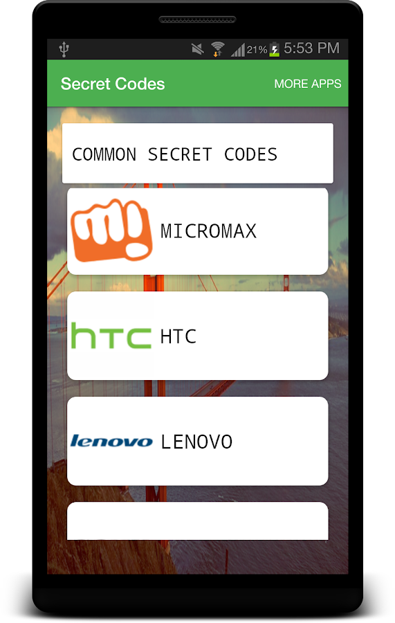 All Mobile Secret Codes