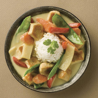 Green Curry Chicken with Basil.
