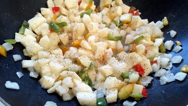 In a wok over medium heat, add the oil and salt. Once hot, add...