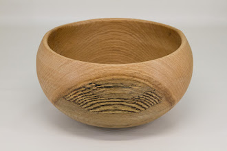 "Photo: Joe Clark 10"" x 5 1/2"" bowl [spalted red oak]"
