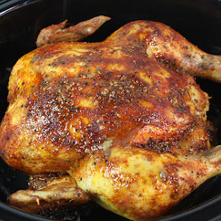 Slow Cooker Roasted Chicken.