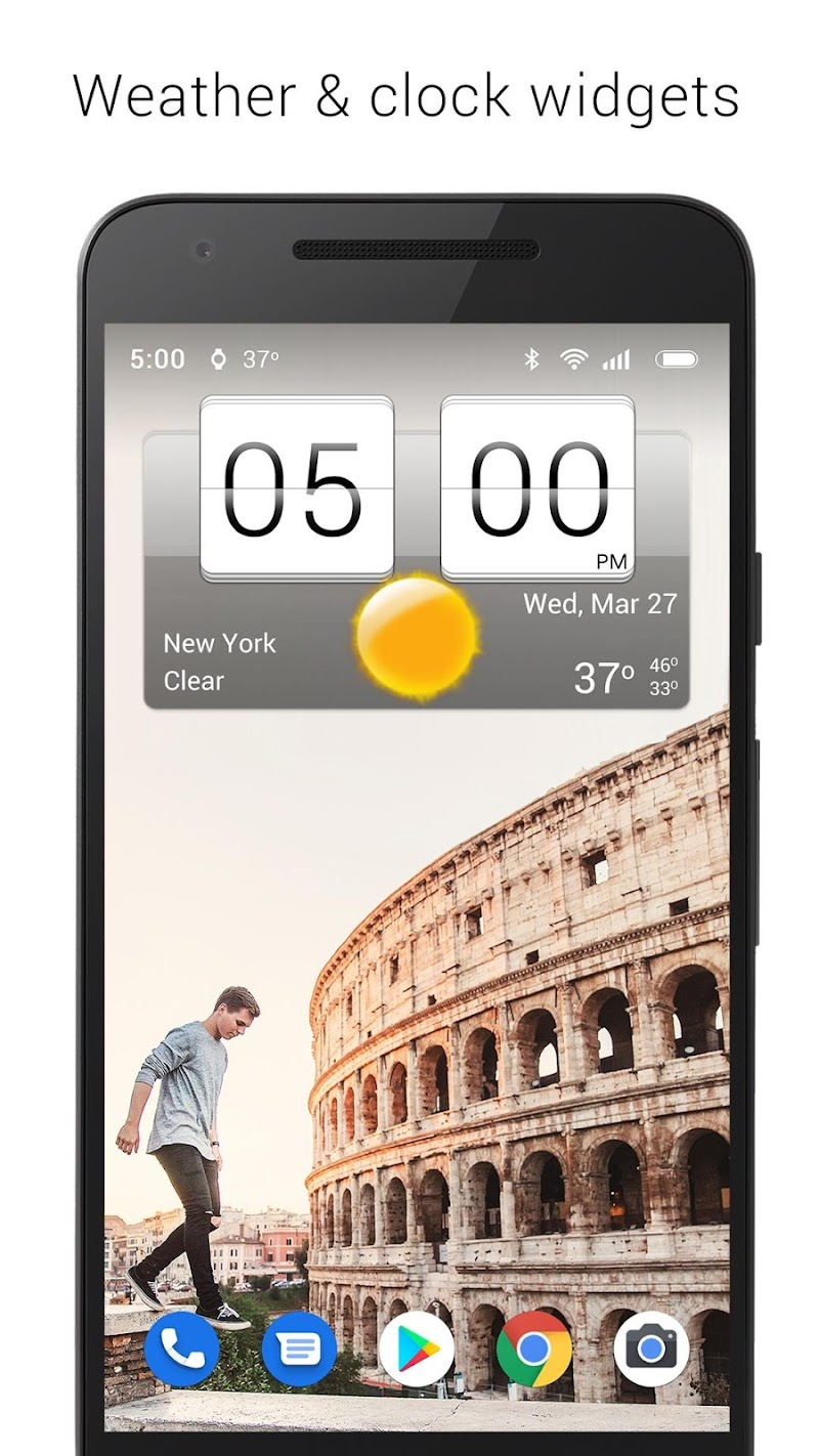 Sense Flip Clock & Weather (Ad-free) Screenshot 8