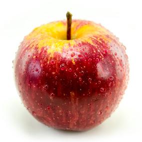 Fresh Red apple with drops of water by Basant Malviya - Food & Drink Fruits & Vegetables ( apple, fruit, healthy, food,  )