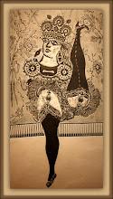 Photo: Antonio Berni Ramona en el cabaret (o Ramona bataclana) 1964 ca. Xilocollage. Matriz xilográfica: 94,9 x 48,9 cm. Estampa: 110,8 x 64,8 cm. Colección particular, Buenos Aires. Expo: Antonio Berni. Juanito y Ramona (MALBA 2014-2015)