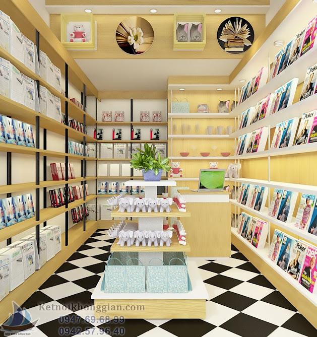 thiết kế nhà sách diện tích nhỏ