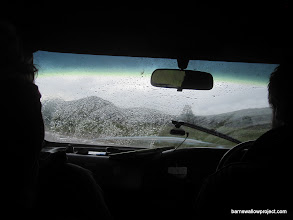 Photo: And that's when we realized the left wiper was broken.