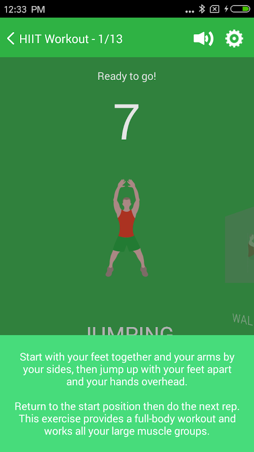 Free 7 Minute Workout - weight loss, HICT App- screenshot