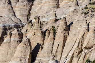 Photo: Close up of front cliffs; Tent Rocks National Monument, Cochiti Pueblo, New Mexico