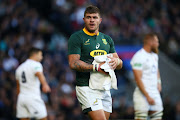 Malcolm Marx of South Africa during the Castle Lager Outgoing Tour match between England and South Africa at Twickenham Stadium on November 03, 2018 in London, England.