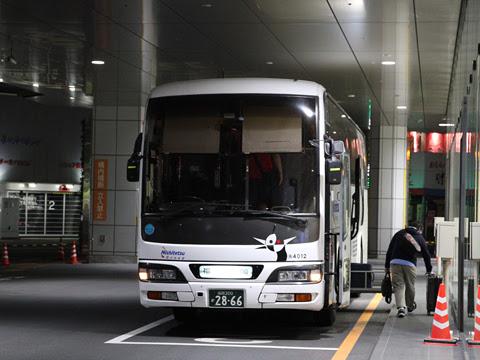 西鉄高速バス「桜島号」夜行便 4012 鹿児島中央駅改札中