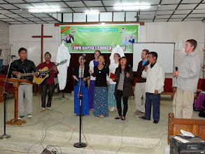 Photo: The IGo youth ministering in partnership with the Liangmai youth at Tening town church