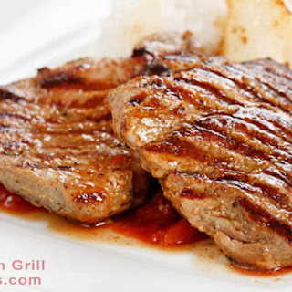 Easy Grilled Pork Chops – Mustard and Brown Sugar Glazed