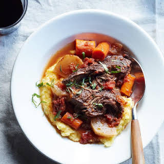 Slow-Cooker Braised Beef with Carrots & Turnips.