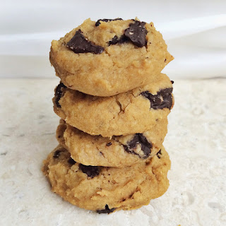 Flourless Peanut Butter Chocolate Chunk Cookies [Gluten Free + Vegan]