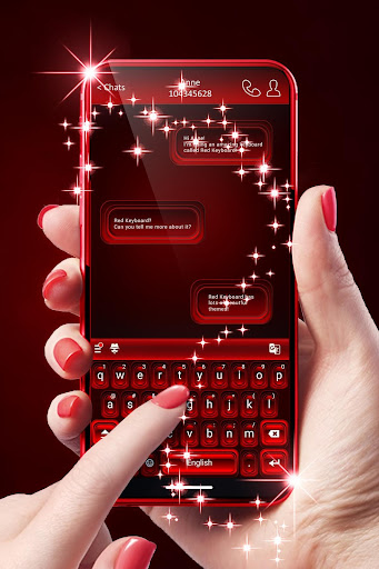 Red Keyboard For Android 1.288.18.28 screenshots 1